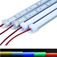 """Tira LED dura resistente al agua 5630 SMD Led Bar 50cm 100cm Luz de barra LED con carcasa de estilo """"u"""" Carcasa con tapa de extremo + cubierta de PC"""