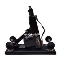 Automatische sex machine pistool / kanon met grote dildo realistische penis 6 cm intrekbare masturbatie machinegeweer 0-415 / minuten seksspeeltjes