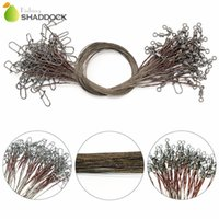 50pcs Brown Uncoated Stainless Steel Fishing Line Wire Leade...