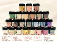 Freies verschiffen NEUES 7.5g Pigment Lidschatten / Mineralisierung Lidschatten mit englischen Farben Name 24 Farben (12pcs / lot) (zufällige Senden Farbe)