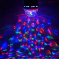 AC 85-265V E27 3W colorato rotazione automatica rotante RGB LED Lampadina Light Light Lampada per feste Disco per DJ Party Club KTV Luce di vacanza