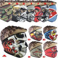 30pcs masque de visage de crâne 12 couleurs Halloween Costume de costume Masque Masque Moto Foulard Vélo Snowboard Snowboard Sports en plein air Serviette de visage