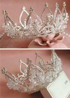 MEJOR venta Vintage Silver Wedding Tiara Crown Crown Crown ACCESORIOS ACCESORIOS DE DIEVENCIA Mujeres Joyería de la joyería Hacer