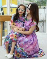 Mother and Daughter Clothes 2015 New Summer Dresses Print Fl...