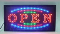 Venta directa Pantalla LED personalizada 10x19 pulgadas semi-al aire libre Animated Neon Open Business Sign