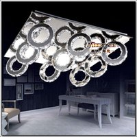 Modern LED Crystal Ceiling Light Fitting Crystal LED Ceiling...