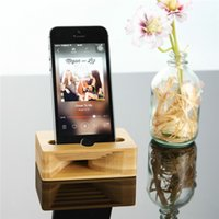 Bamboo Phone Stand Holder Holder Bamboo Sound Amplifier Wooden Holder Tablet para iPhone Altavoz Speaker Station Speaker