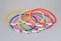 Новейшие 2016 вырезанные USB заряженные собаки обучающие воротник светодиодный светодиодный зарядное устройство для домашних животных ошейники с регулируемыми 6 цветами света
