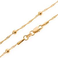 Klassische Persönlichkeit wilde Wasser plätschert Perlenkette 18 Karat vergoldet feine Kette Großhandel Weihnachtsgeschenke
