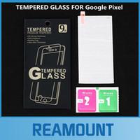 Protector de pantalla de vidrio templado anti-huella digital ultrafino 50pcs 2.5D para Google Pixel Protector de pantalla transparente con embalaje