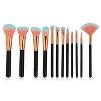 12pcs set Professional MakeUp Brushes Set Wooden Handle Loos...