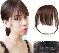 Sara Woman & Girls Clip In Shuangbin Hair Bang 100% Human Ha...