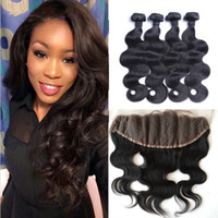 Peruvian Virgin Hair With Closure Body Wave Peruvian Human H...