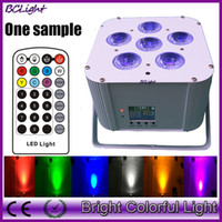 2015 Newest 6*18W RGBWA UV Wireless dmx led par lights batte...