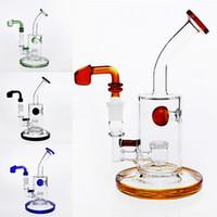 4 cores bongs de vidro 20cm Alto Função Two água Tubulações Headshower PERCs New Arrival Bubblers vidro Bongs Oil Rigs Caliane com banger