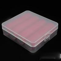 Portátil 18650 caja de batería con 4 piezas 18650 batería caja de almacenamiento de múltiples colores para 18650 18350 14500 batería de DHL envío gratis
