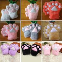 도매 섹시한 녀 고양이의 어머니이 고양이의 발톱 장갑 코스프레 액세서리 애니메이션상 견면 벨벳 장갑 발자 장갑을 공급 2167