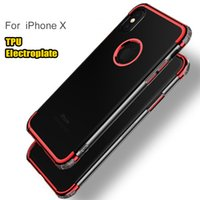 Pour iPhone 8 Plus iPhone X Couverture Etui Electroplate Etui TPU souple Etui protecteur pour iPhone 6 / 6S Plus 7 Plus