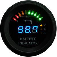Круглый корпус Arc линии светодиодный цифровой батареи манометр разряда Индикатор Счетчик часов состояние зарядки погрузчиком, EV, 24В 36В 48В 60В до 200В
