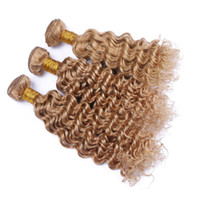 New Arrival Honey Blonde #27 Human Hair Bundles Brazilian 9A...