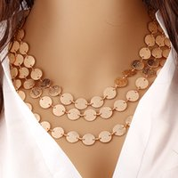 Fashion golden multilaye rnecklace temperament contracted me...