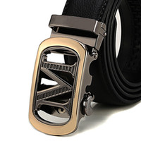 Men Leather belts Top Grade luxury belts M Buckle Casual fas...