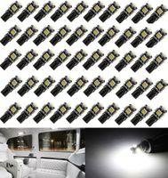 50 Adet Beyaz Canbus Hata Ücretsiz Araba T10 W5W 194 168 2825 LED 5-smd Kama Ampul