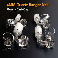high quality 4mm thick quartz banger domeless nail with carb...