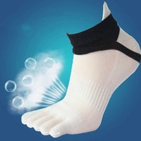 Wholesale-Five Finger Toe Socks for Men Sports short tube Mesh finger Meias Polyester sock Run Elasticity sock Moisture Absorption