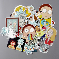 35 pcs / set American drama rick and morty drôle autocollant autocollant pour voiture ordinateur portable vélo moto cahier étanche autocollants