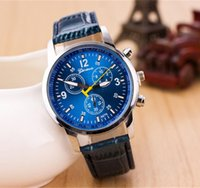 Casual Leather Glass Splendid Luxury Fashion Quartz Analog W...