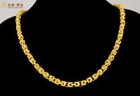 Rapide Livraison Gratuite Fine 24 K or bijoux en or collier alluvion bijoux en or hommes dominatrice suzerain robinet collier large 6mm longueur 50 cm