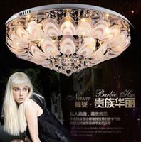 Nuovi moderni lampadari di cristallo rotondo D80 cm lampada da soffitto a incasso E14 LED in acciaio inox lucentezza luci appese dispositivi illuminazione indoor