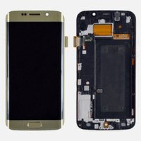 Samsung Galaxy S6 Kenar G925F LCD Ekran Dokunmatik Ekran Digitizer + Çerçeve ile Altın