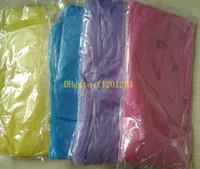 1000pcs / lot Großhandel billige Mode Wegwerf-PET Regenmantel Poncho Regen Reise-Regen-Mantel Regen-Bekleidung Mischfarben