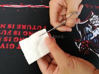 Maquillage Ciseaux À Sourcils Avec Tête Ronde En Acier Inoxydable Femme Sourcils Lame Beauté Vibrisses Ciseaux Nez Trimmer Outil De Maquillage Coton Vapeur DIY