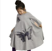 Autumn New Casual Baby Girl Dresses Girls Dress Butterfly Pr...