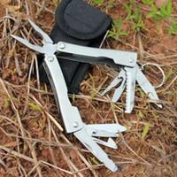 9in1 Ao Ar Livre de Aço Inoxidável Multi Ferramenta Alicate Portátil Mini Kit de Camping 1SZ8