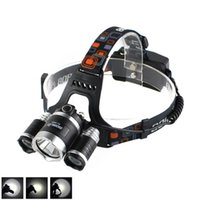 Boruit 8000LM 3 x XM-L L2 Faros delanteros LED FISHING CAMPING Head Torch Linterna USB Lámpara