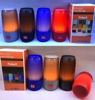 Nouveau Arrivée Pulse3 MY-665BT LED Light Music Haut-parleur Bluetooth coloré Sans fil Son surround extérieur Double Subwoofer USB Disk Card FM Mp3 Player