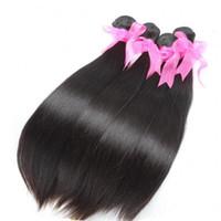 6 teile / los färbbare brasilianische haarefeste natürliche schwarze jungfrau menschliche haarverlängerung greatremy fabrikauslass seidig gerades haar weben
