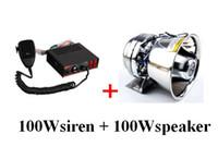 마이크 + 1 유닛 100W 스테인레스 스틸 스피커와 높은 품질 100W 경찰 사이렌 차량 경고 경보 증폭기