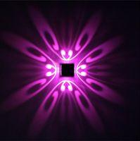 3W مصباح الجدار الشمعدان الأنوار للفندق الممر خطوة قاعة السرير إلى أسفل إضاءة الديكور الداخلي ، أدى ضوء فراشة