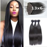 Cheap 13x6 Full Frontal Lace Closure With Bundles Natural Bl...
