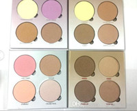 شحن مجاني ePacket (للبيع) ماكياج HOT جديد 4 ألوان Bronzers فسفورية لوحة!