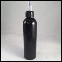 120 ml 병 블랙이 액체 병 트위스트 캡 및 Ejuice를 작성하기 쉬운 애완 동물 Dropper 병