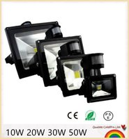 10 개 PIR LED 홍수 모션 센서 야외 조명 10 와트 20 와트 30 와트 50 와트 방수 IP65 AC85-256 볼트 유도 감지 램프 정원 빛