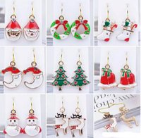 Fashion Women Santa Claus Snowman lovely Tree Bell Christmas...