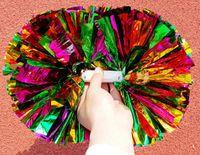 パーティーカーニバル応援ポンポンプラスチック製ハンドルチアリーダーフラワーダンスハンドボールスポーツボーカルコンサートチアリーダーボールお祝い用品