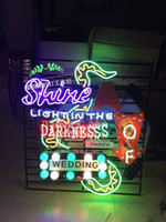 Neon Light Sign. LED signe Ampoule LED SUNSHINE wendding partie Serpent Neon Sign Beer Bar Accueil Connexion réel Verre Neon Light Beer Sign80CM * 80cm